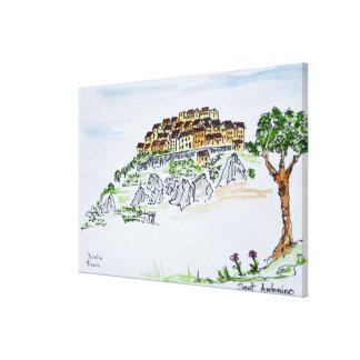 Dorf von Sant'Antonino | Korsika, Frankreich Leinwanddruck