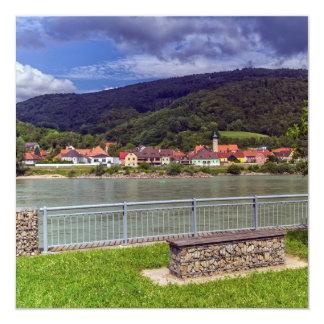 Dorf von Willendorf auf dem Fluss Donau, Karte