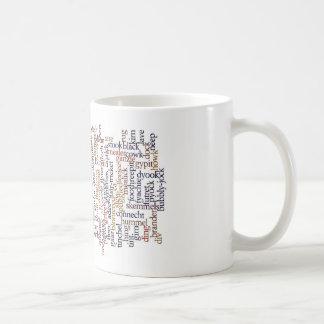 Doric Tasse mit Wort-Wolke