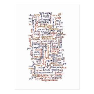 Doric Wort-Karte Postkarte