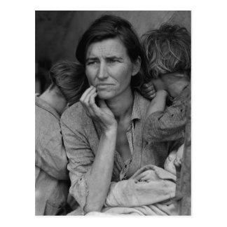 Dorothea Langes Wander- Mutter Florenz Thompson Postkarte
