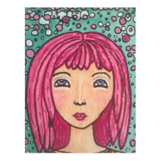 Dotty Mädchenpostkarte Postkarte