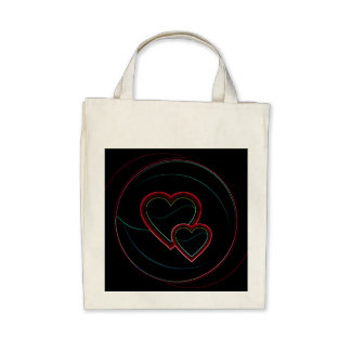 Double Hearts In Black Bag