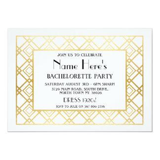 douche nuptiale de partie de Bachelorette d'art Carton D'invitation 12,7 Cm X 17,78 Cm