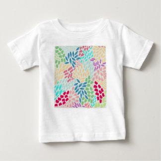 Douche peinte à la main de fleur t-shirt pour bébé