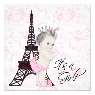 Douche rose de bébé de Toile Paris