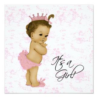 Douche vintage rose de bébé de Toile Bristols Personnalisés