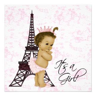 Douche vintage rose de bébé de Toile Paris