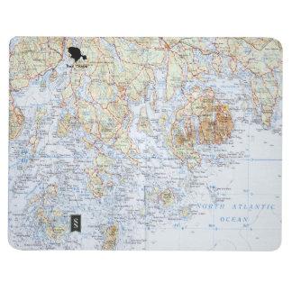 Downeast Maine Karten-Notizbuch Taschennotizbuch