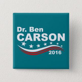 Dr. Ben Carson 2016 Quadratischer Button 5,1 Cm