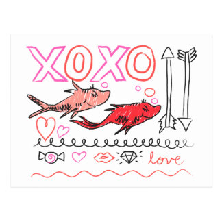 Dr. Seuss Valentine | XOXO Postkarte