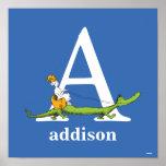Dr. Seusss ABCs: Beschriften Sie A - Weiß | Poster