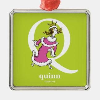 Dr. Seusss ABCs: Buchstabe Q - Weiß   addiert Silbernes Ornament