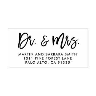 Dr. und Frau Stamp, Jungvermählten Briefpapier, Permastempel