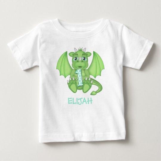 Drache-1. Geburtstags-Shirt - personalisiert Baby T-shirt