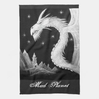 Drache an der Nachtmalerei Handtuch