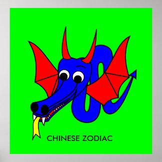 DRACHE - CHINESISCHER TIERKREIS POSTER
