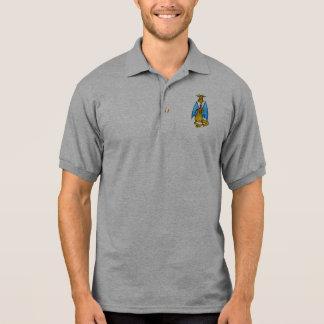 Drache, der Kerze hält Polo Shirt