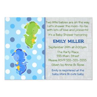 Drache-Einladung paart Babyparty 12,7 X 17,8 Cm Einladungskarte