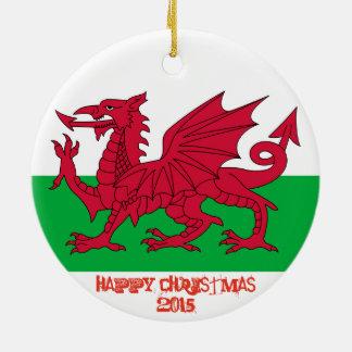 Drache-Flaggen-Weihnachtsverzierung Wales