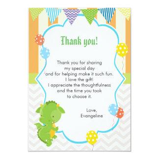 Drache-Kindergeburtstag danken Ihnen, Anmerkung zu Karte