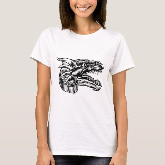 Drache-Kopf-Entwurf T-Shirt