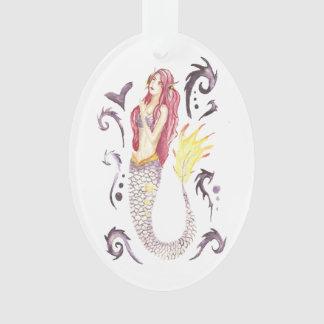 Drache-Meerjungfrau-Scharlachrot Ornament