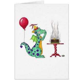 Drache-Rauch-Geburtstags-Karte Karte