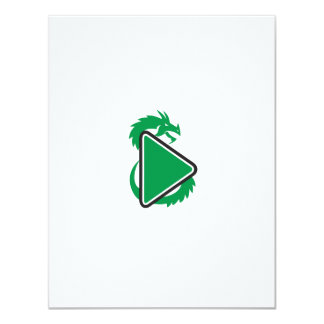 Drache-Spiel-Knopf-Seite Retro 10,8 X 14 Cm Einladungskarte