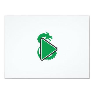 Drache-Spiel-Knopf-Seite Retro 16,5 X 22,2 Cm Einladungskarte