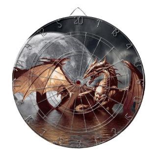 Drache-u. Mond-Fantasie-Kunst-Dartscheibe Dartscheibe