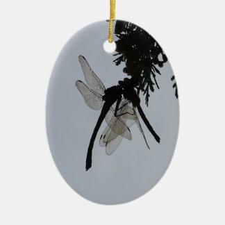 Drachefliege Ovales Keramik Ornament