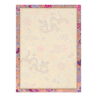 Drachen und Blumen Karte