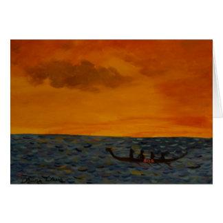 Drachenbootrennen Grußkarte