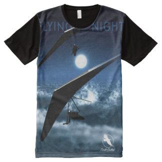 DRACHENFLIEGEN Fliegen-NachtPonto Zentrale T-Shirt Mit Komplett Bedruckbarer Vorderseite