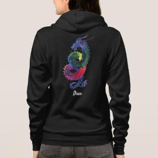 Draco-Regenbogen-Nebelfleck Hoodie