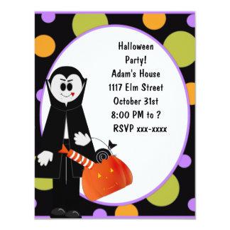 Dracula-Halloween-Party-Einladung ~ fertigen 10,8 X 14 Cm Einladungskarte