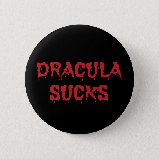 Dracula ist zum Kotzen - lustiger HalloweenVampire Runder Button 5,7 Cm