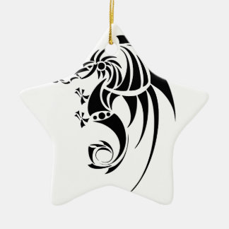 Dragissous V1 - schwarzer Drache Keramik Ornament