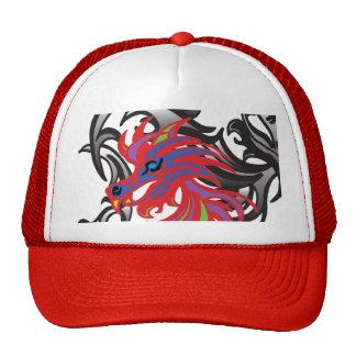 Dragon au néon casquette de camionneur