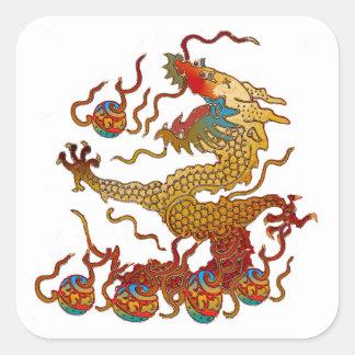 Dragon espiègle sticker carré