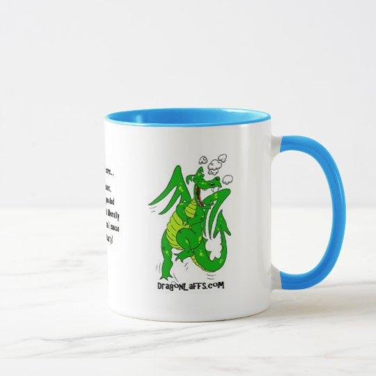 DragonLaffs.com - lachender Drache Tasse