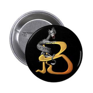 Dragonlore Anfangsb Runder Button 5,7 Cm