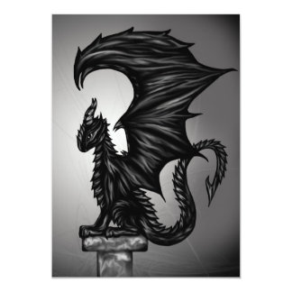 Dragonstatue 12,7 X 17,8 Cm Einladungskarte