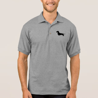 Draht-behaarte Dackel-Silhouette Polo Shirt