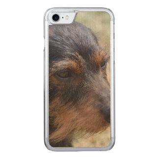 Draht behaarter Daschund Hund Carved iPhone 8/7 Hülle