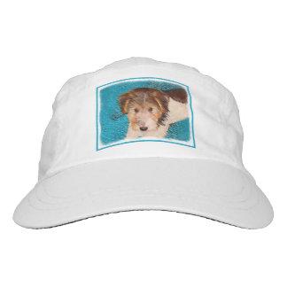 Draht-Foxterrier-Welpen-Malerei - ursprüngliche Headsweats Kappe