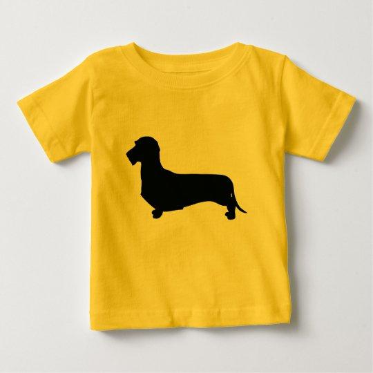 Draht-Haar-Dackel-Kleinkind-T-Stück Baby T-shirt