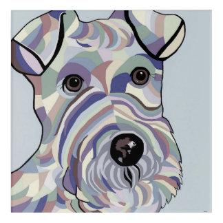 Draht-Haar Terrier in den Denim-Farben Acryl Wandkunst