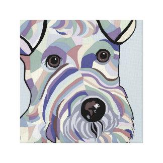 Draht-Haar Terrier in den Denim-Farben Leinwanddruck